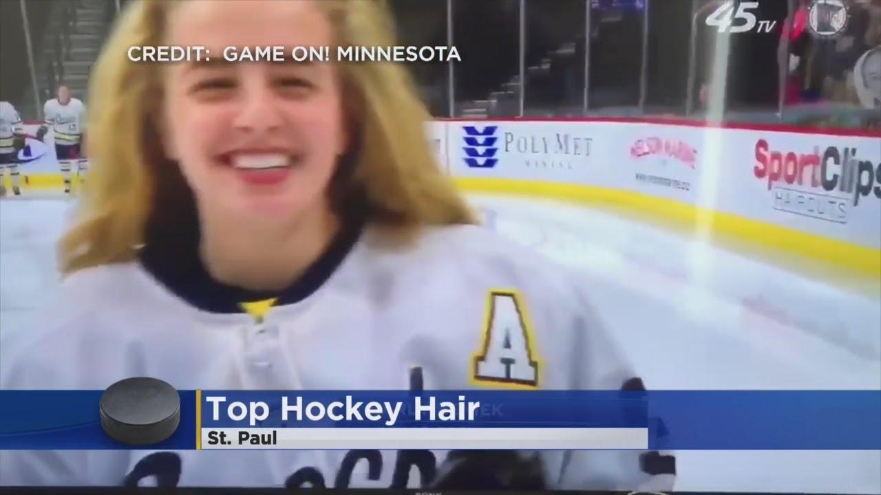 Breck Junior Wins State High School Hockey Hair Team Honors