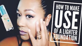 How to make use of a lighter foundation Thumbnail