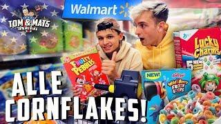 ALLE SMAKEN CORNFLAKES MUKBANG (WALMART) 😍🤤 | Tom & Mats in Amerika #9