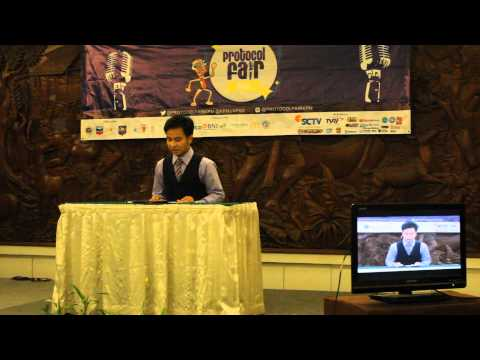 News Presenter Competition of Protocol Fair 2014