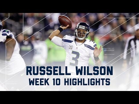 Russell Wilson Throws for 348 Yards & 3 TDs | Seahawks vs. Patriots | NFL Week 10 Player Highlights