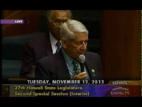 Hawaii SB1 HD1 Senate Vote Sam Slom 11 12 13