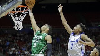Jayson Tatum Game Winner! NBA Debut Summer League 21 Pts 5 Stls!