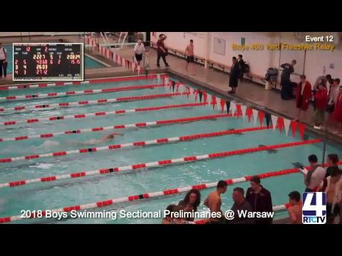 IHSAA Boys Sectional Swimming Preliminaries @ Warsaw