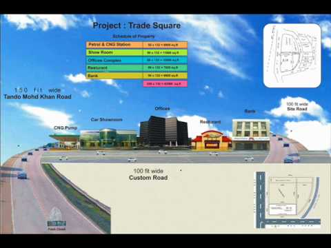 Hyderabad Pakistan Haji Iqbal Trade Square Plan