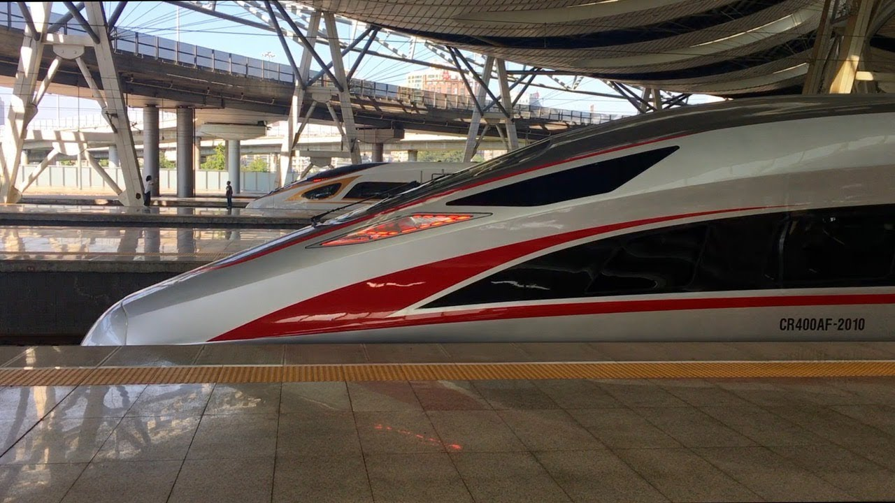 China Fuxing High Speed Bullet Train 350km H Youtube