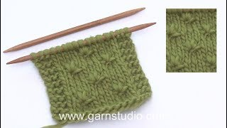 How to knit a knot over 3 stitches