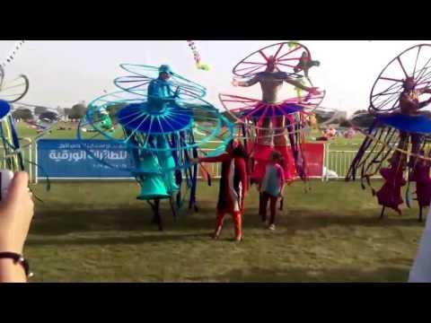VLOG .  Kite festival in Aspire ,  Doha . مهرجان اسباير الدولي الأول للطائرات الورقية