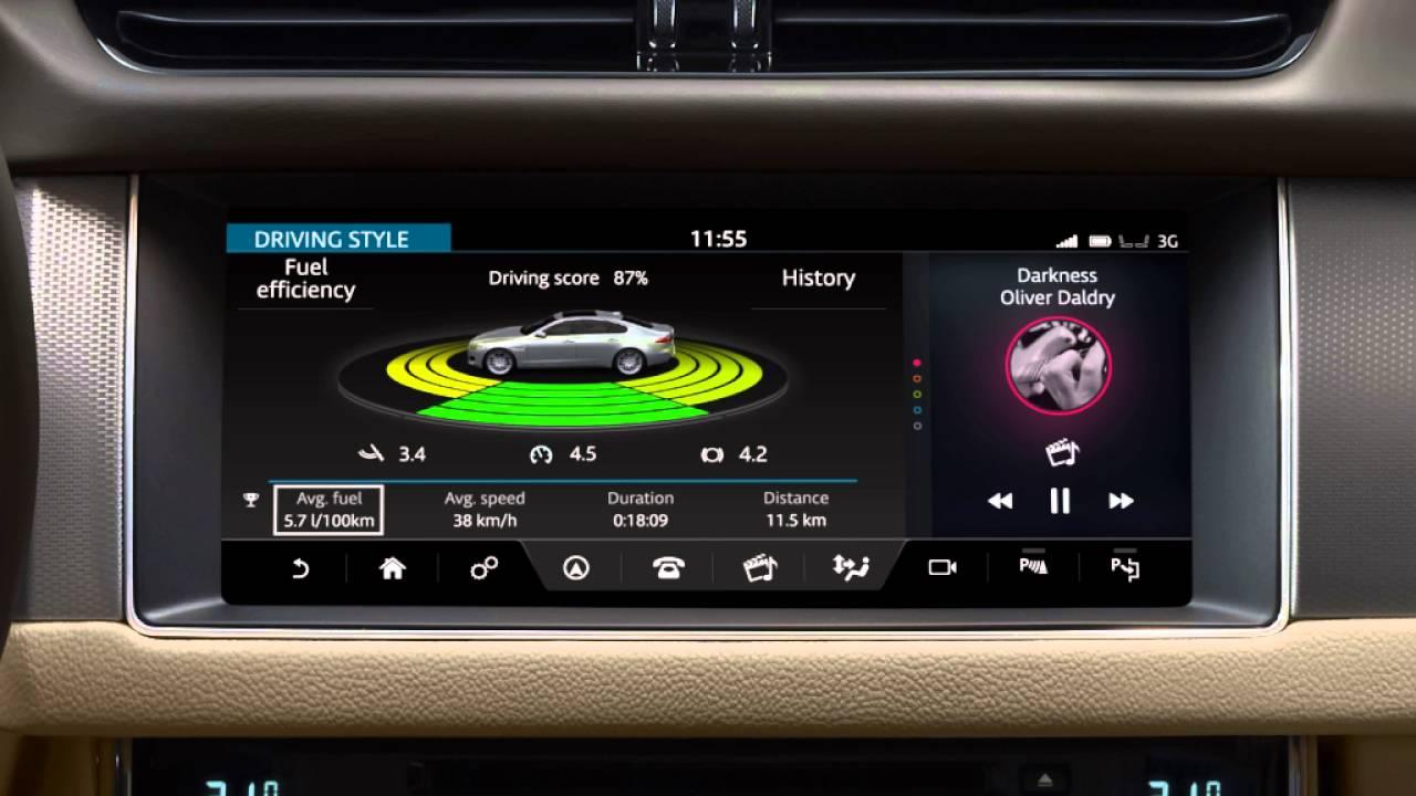Lastest Jaguar XF 2017  InControl Touch Pro Eco Data  YouTube