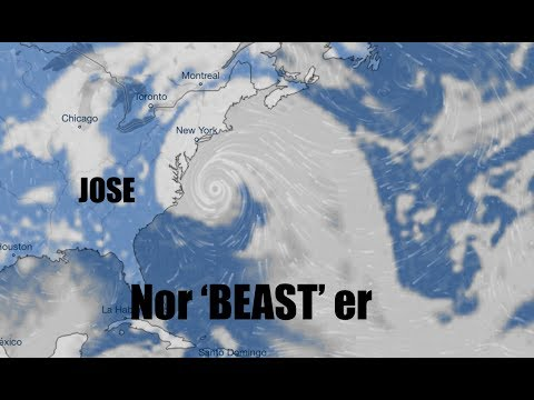 NEW - Hurricane JOSE Track shifts - Forecasted to grow Exponentially!