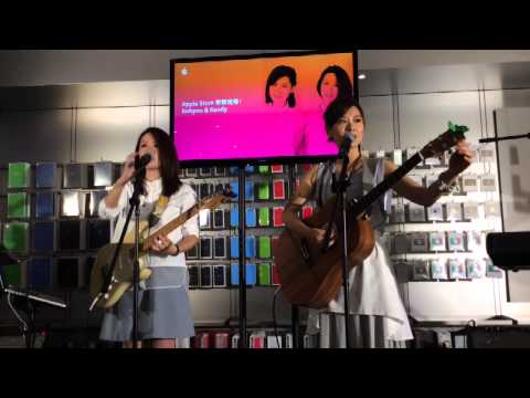 2015.06.05 - Robynn & Kendy @ Apple Store (Causeway Bay)
