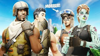 RECON EXPERT mobbt NO SKIN but then I showed my AERIAL ASSAULT TROOPER.. (Fortnite) ft. RealAry