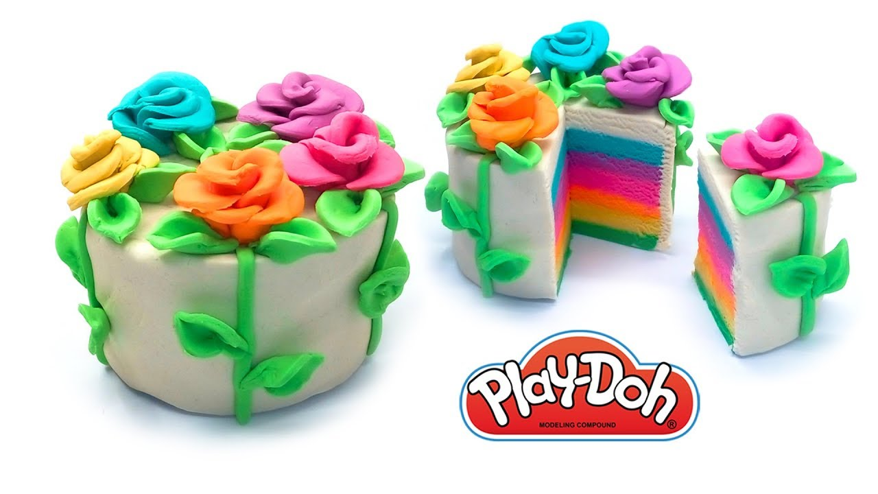 Dolls Food Spring Flower Cake Play Doh For Kids And Beginners