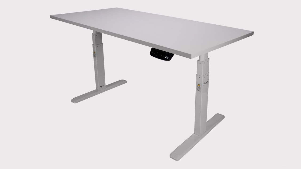 How To Install Rosewill Electric Standing Desk Frame Wood Table Top Rsd10
