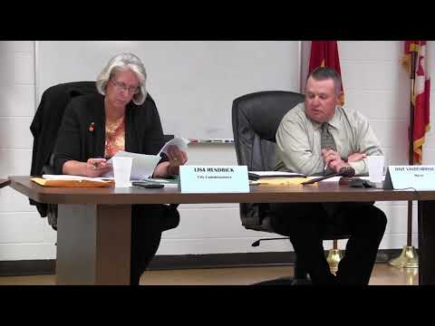 Marine City Commission Meeting, Thurs., Oct. 19, 2017
