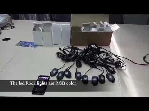 Lantsun® Jeep RGB led rock right J143