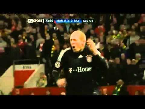 Robben - Tor gegen Manchester RADIO-KOMMENTAR CL 2010: Manchester United - FC Bayern 3:2