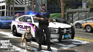 GTA 5 MODS LSPDFR 1027 - K9 CITY PATROL!!! (GTA 5 REAL LIFE PC MOD)