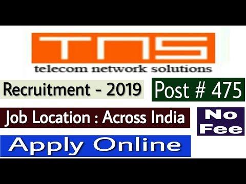 TNS Recruitment 2019 II Private Job 2019 II How To Apply Online II Learn Technical