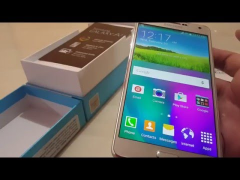 Unboxing  - Samsung Galaxy A7 2015 model