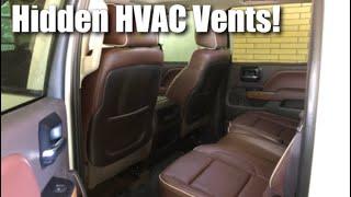 Hidden HVAC Vents in 2014 - 2018 Silverado Sierra
