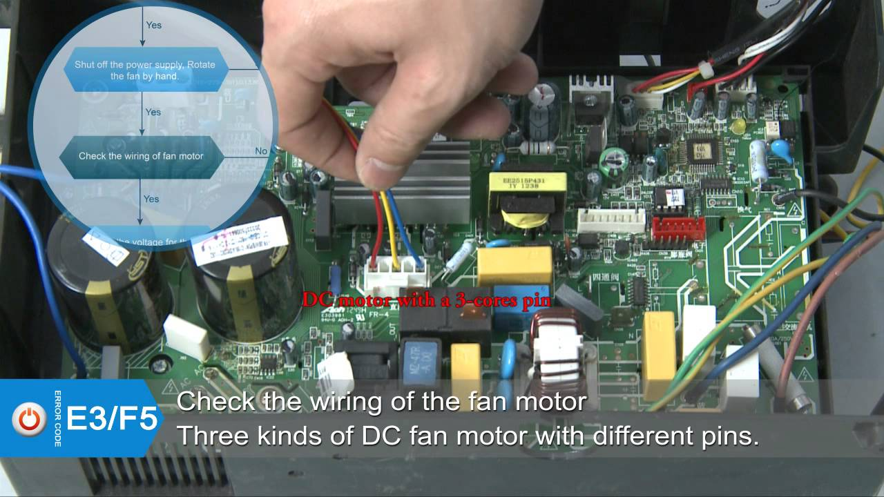 Superair Mini Split Air Conditioner Code For E3f5 Youtube Sanyo Wiring Diagram