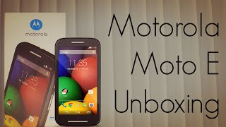 Motorola Moto E Unboxing - Indian Retail Unit - AdvicesMedia XT1022