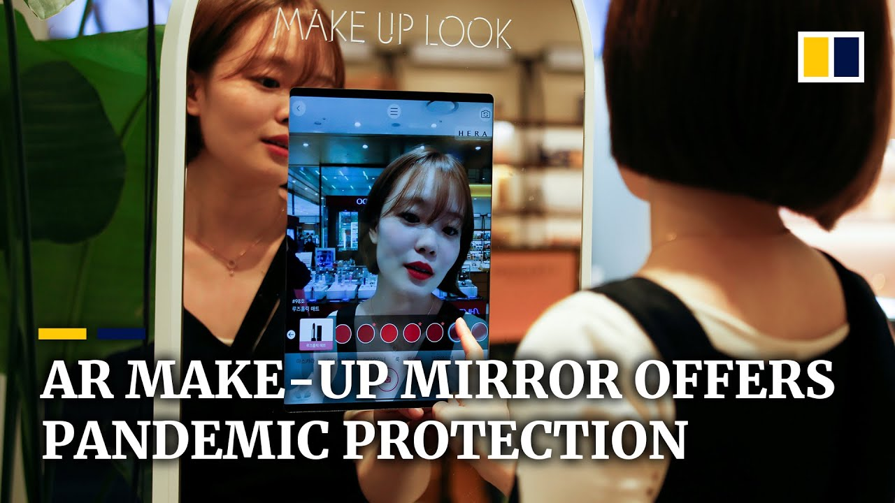South Korean AR mirror helps keep cosmetics shoppers safe amid Covid-19 pandemic