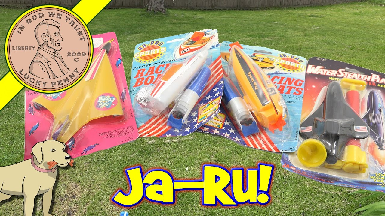 Ja Ru Toys Vintage Kids Novelty Toy Boats Jet & Rocket Explodes
