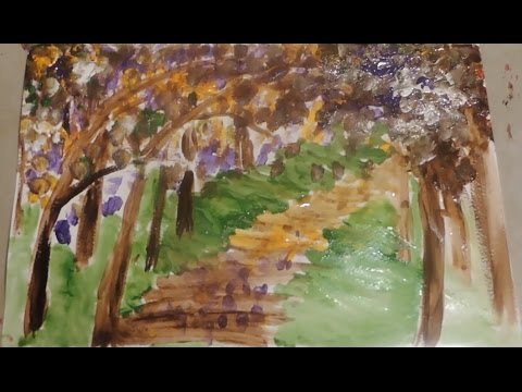 Landscape painting by Ilona (beginners, super easy)