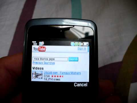 Samsung SGH-U106 U106 web browsing & streaming
