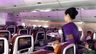 Thai Airways การบินไทย เครื่อง A350 ชั้นประหยัด: กรุงเทพ-ฮ่องกง