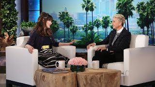 zooey deschanel talks co star justin timberlake