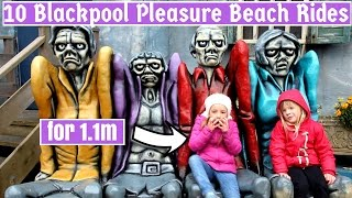 10 Blackpool Pleasure Beach Rides for those who are 1.1m
