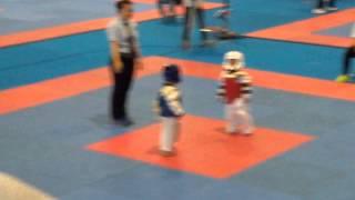 Taekwondo Baby's fight (Quinan-blue) Cute \u0026 funny