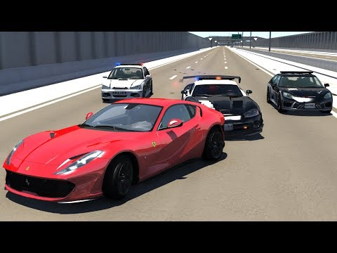 Extreme Police Chases Crashes/Fails #26 - BeamNG Drive