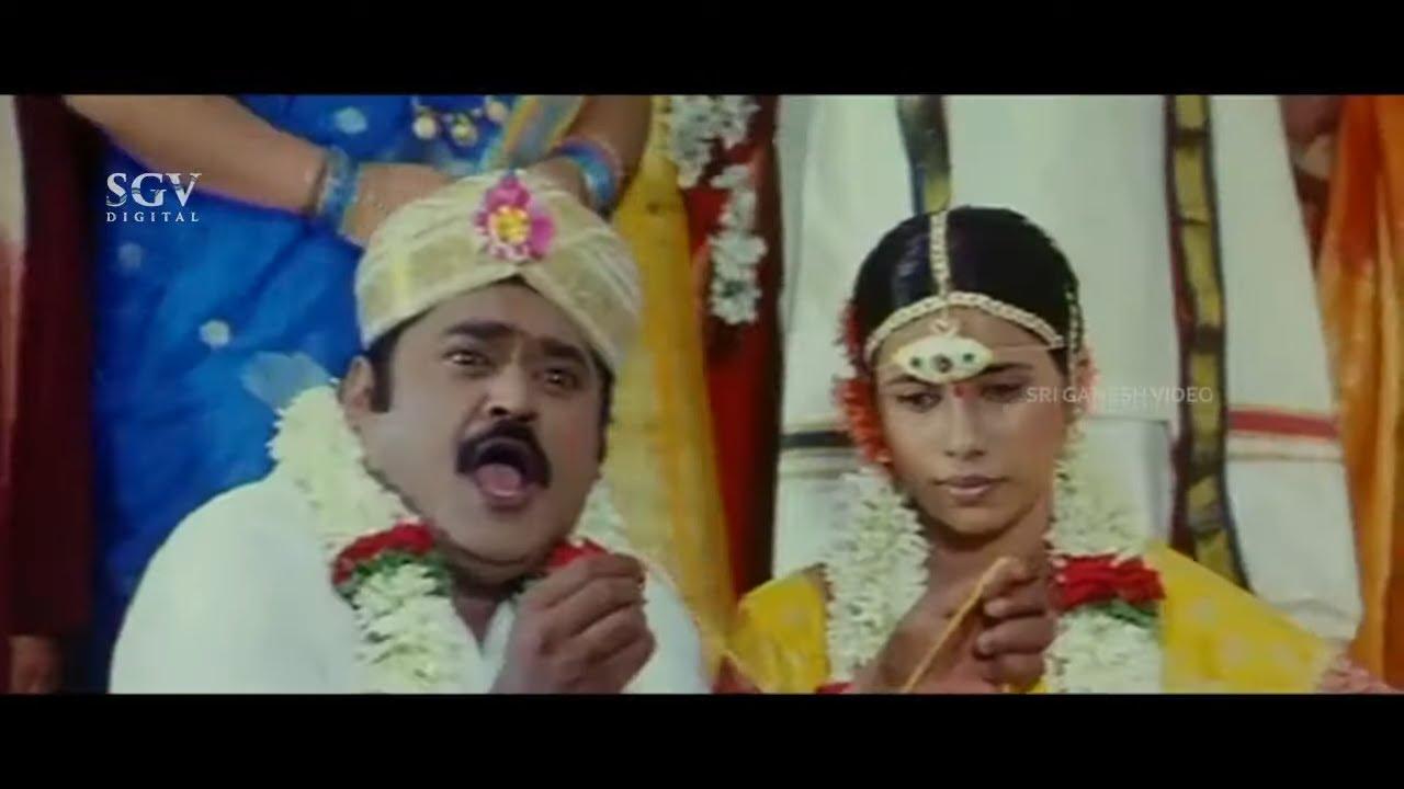 Jaggesh Marrying Andhra Girl Comedy Scene   Kodagana Koli Nungittha Kannada Movie