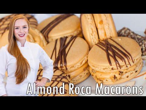 Almond Roca Macarons