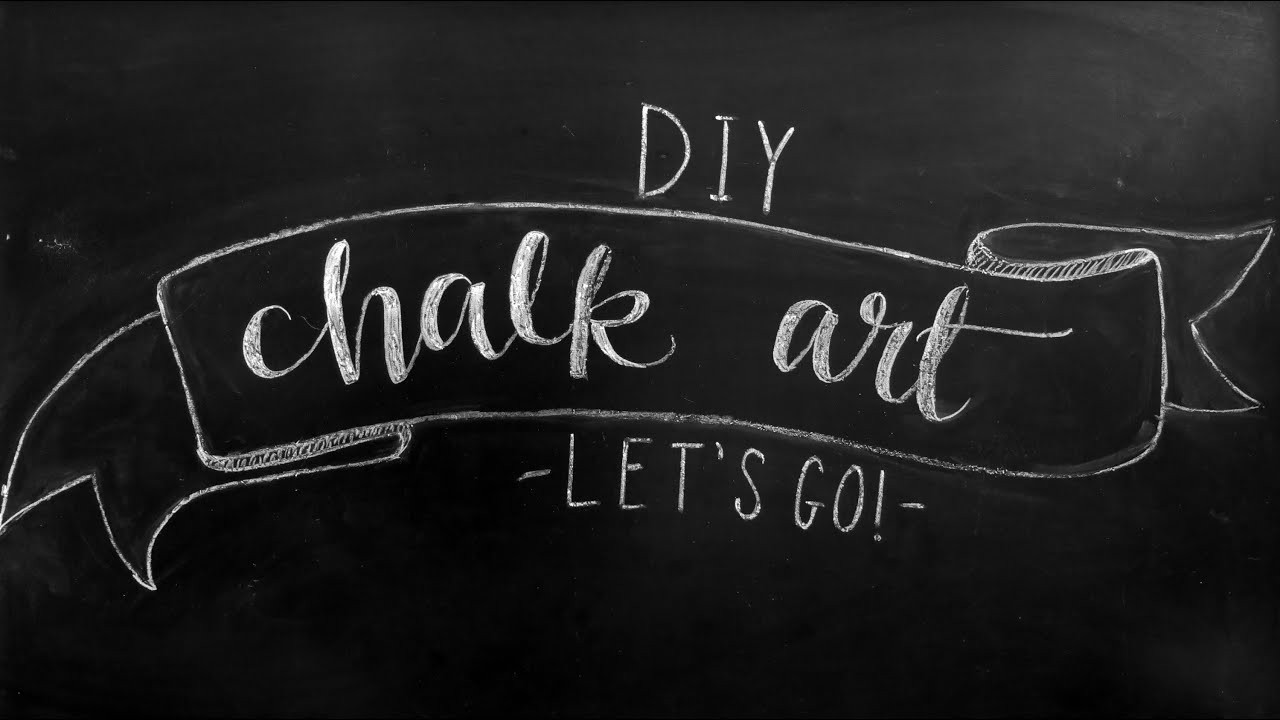 how to faux calligraphy diy chalkboard design tips youtube - Chalkboard Designs Ideas