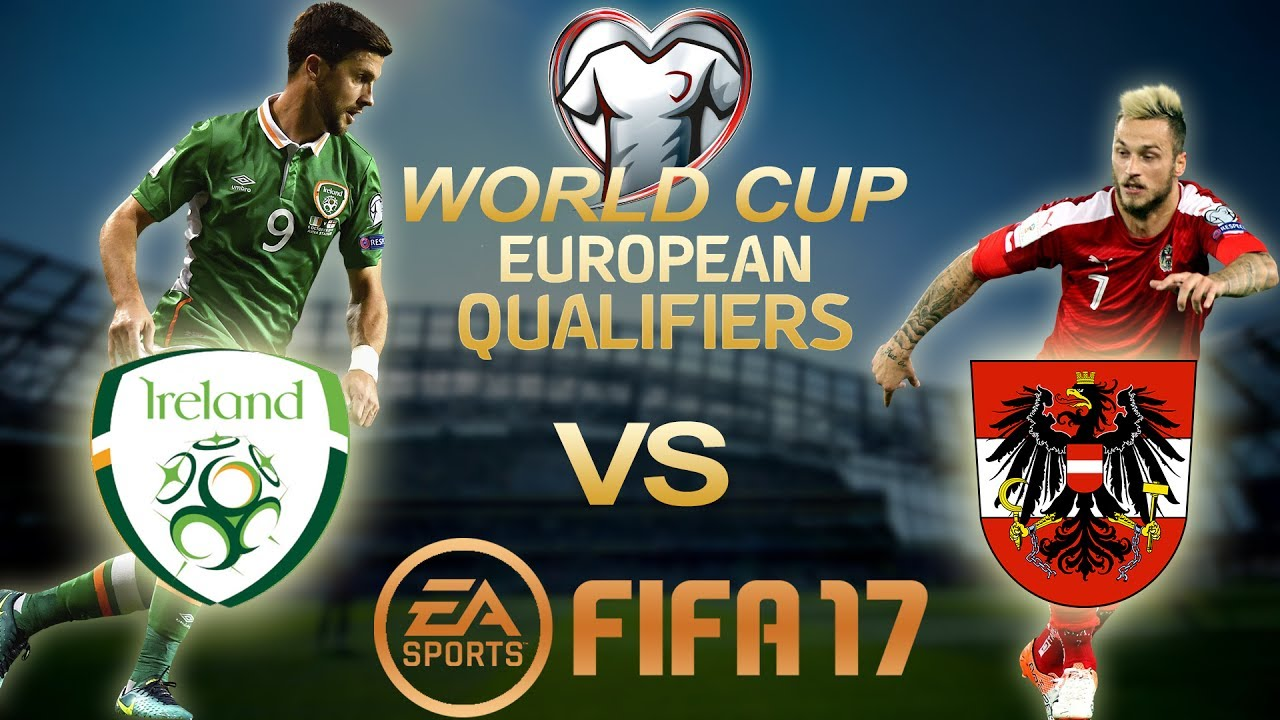 Fifa 17 Ireland Vs Austria World Cup Qualifiers 2018 Ps4 Full Gameplay 1080p 60fps