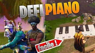 DEFI FORTNITE PIANO ! FACILE ET RAPIDE ! (Fortnite Battle Royal )