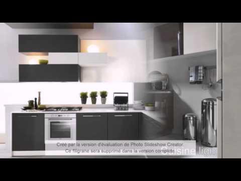 video cuisine lign cuisine en kit et sur mesure pas cher  YouTube