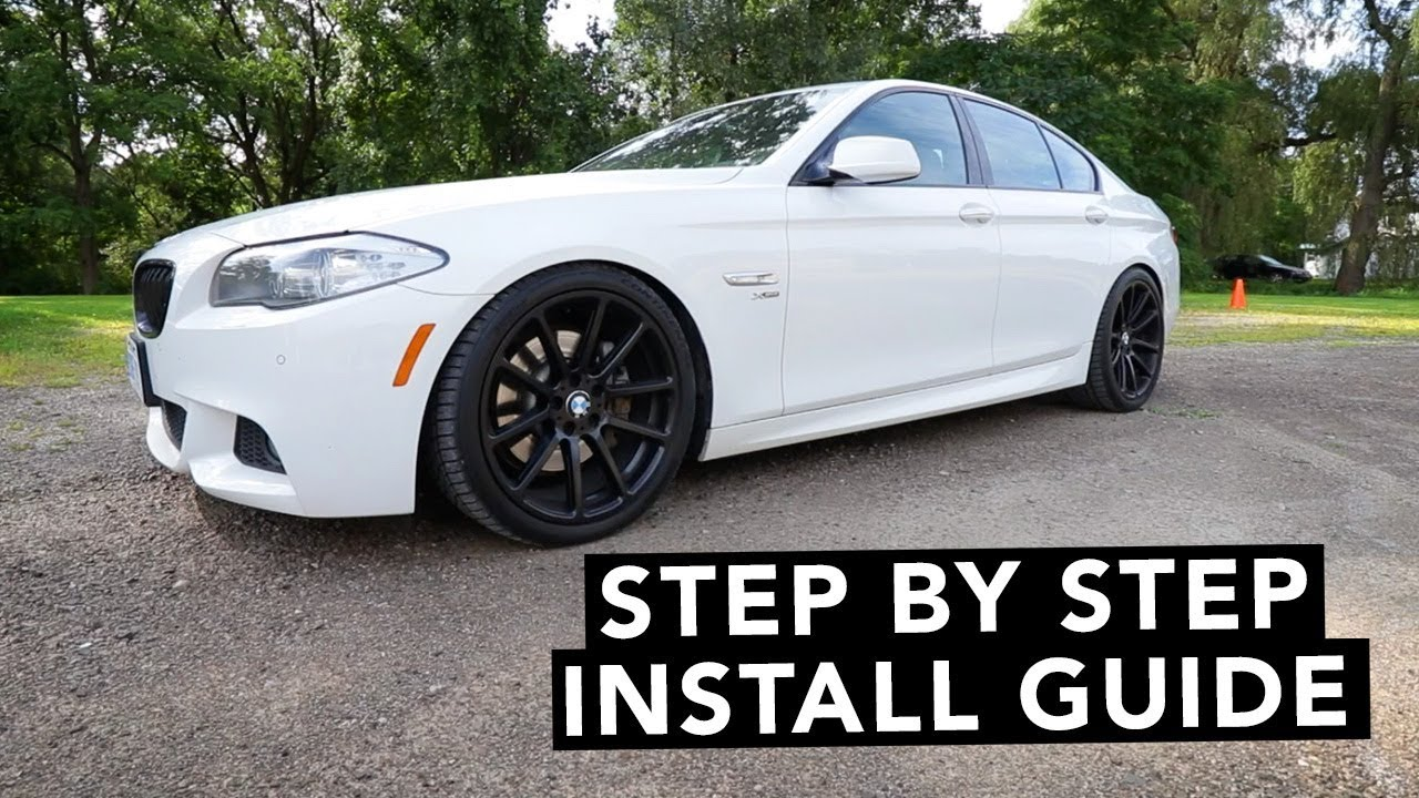how to install coilovers bmw 5 series 2011 2016 528i 535i 550i youtube. Black Bedroom Furniture Sets. Home Design Ideas