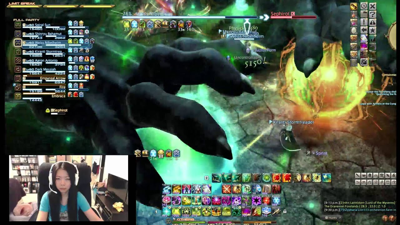 FFXIV Sephirot Extreme Clear SCH PoV !(•̀ᴗ•́)و ̑̑ Warring Lanner drops!