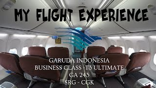 MY FLIGHT EXPERIENCE (FLIGHT REPORT) - E19 - GARUDA INDONESIA BUSINESS CLASS & T3 ULTIMATE | SRG-CGK