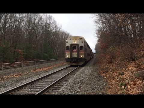 MBTA Commuter Rail HSP46 Engine# 2021 Going Into Station TOO FAST