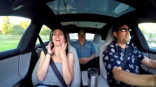Tesla P85D reactions