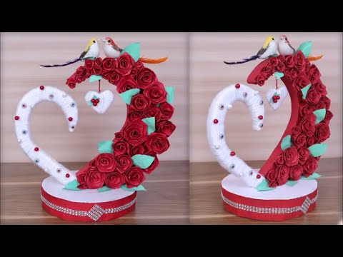 DIY Paper Heart Showpiece || DIY-Gifts Ideas || How to Make  Paper Heart Showpiece ||