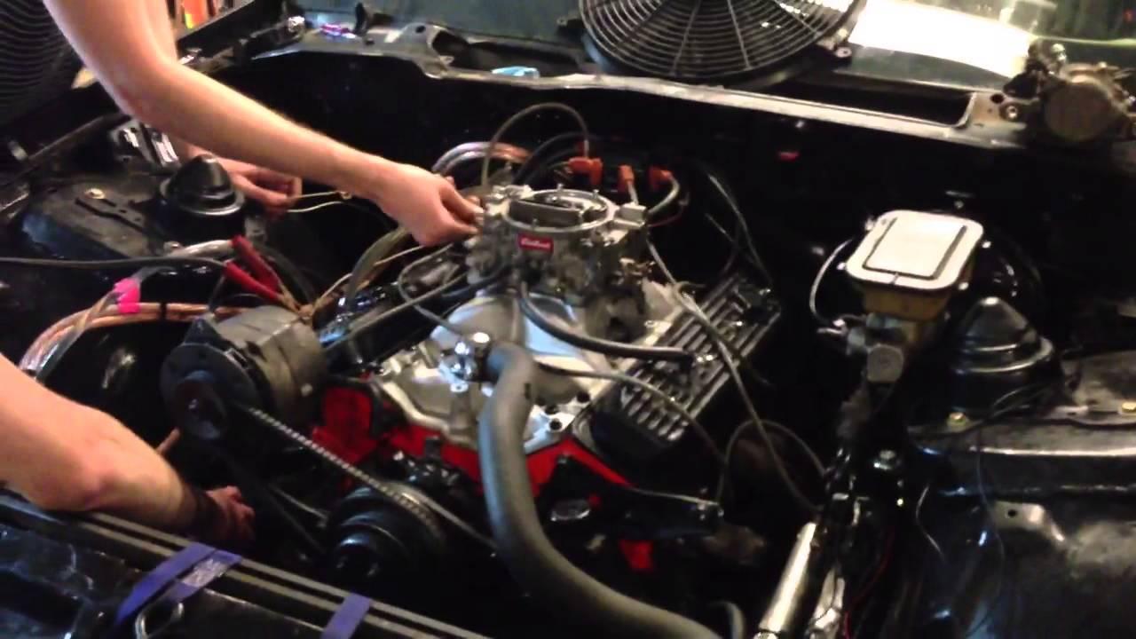 1984 Camaro Engine 1 - Camaro Chevy Smallblock First Start - 1984 Camaro Engine 1