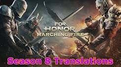[Season 8] For Honor All Combat Translations